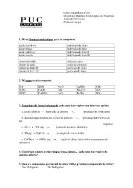 lista_fórmulas e reações