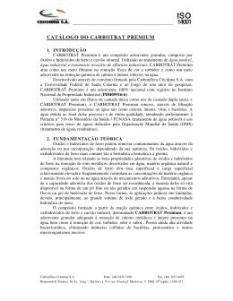 CATÁLOGO DO CARBOTRAT PREMIUM