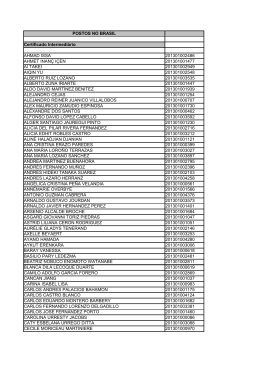 Lista de nomes dos aprovados no exame 2013/1