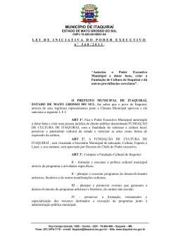 MUNICÍPIO DE ITAQUIRAÍ