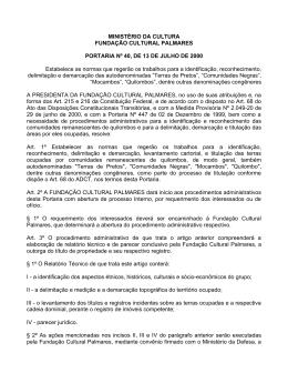 MINISTÉRIO DA CULTURA FUNDAÇÃO CULTURAL