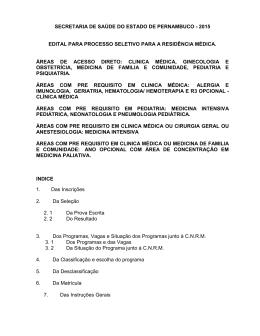 EDITAL PARR PROCESSO SELETIVO A RESJDiNCIA MkDICA Rj ~