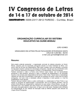 organização curricular do sistema educativo na guiné