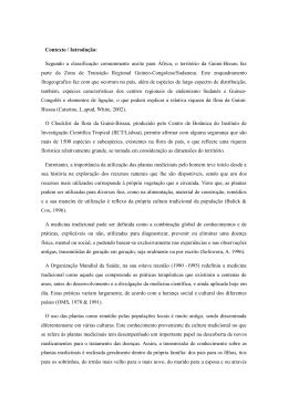 Contexto / Introdução - Sodepaz Guinea Bissau