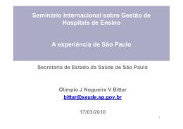 Hospitais de Ensino no Estado de São Paulo