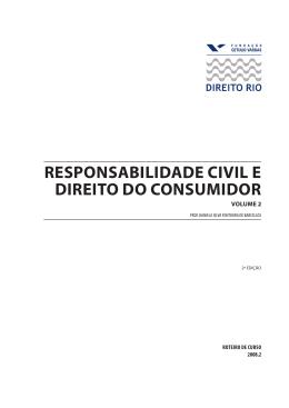 Responsabilidade Civil e Direito do Consumidor