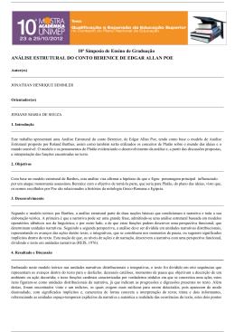 análise estrutural do conto berenice de edgar allan poe