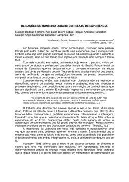 REINAÇÕES DE MONTEIRO LOBATO: UM RELATO DE