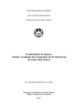 FACULDADE DE LETRAS - Repositório da Universidade de Lisboa