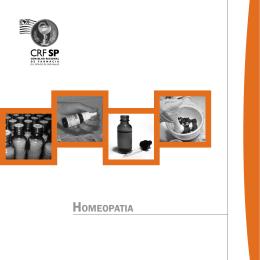 Cartilha da Comissão de Homeopatia - CRF-SP