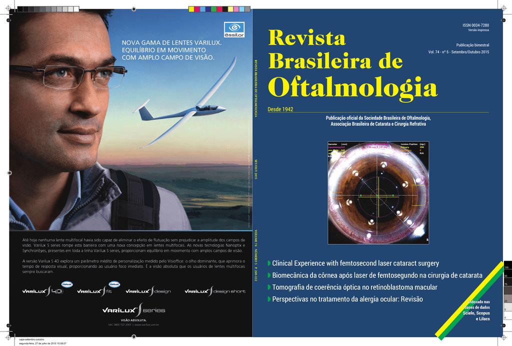 c87f79497 REVIST A BRASILEIRA DE OFT ALMOLOGIA SET/OUT 2015 V