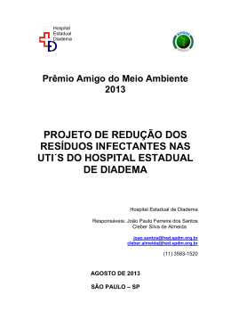 Hospital Estadual de Diadema - Projeto Hospitais Saudáveis