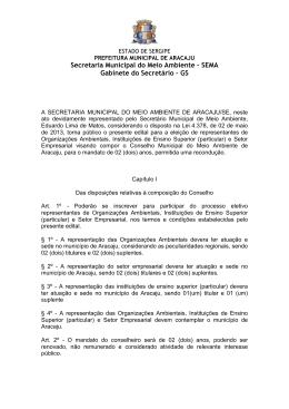 Edital de abertura - Prefeitura de Aracaju