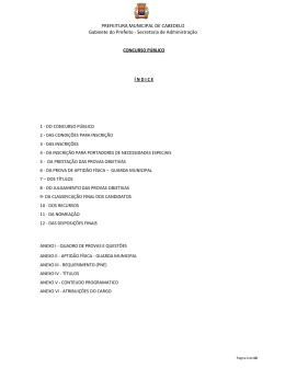 PREFEITURA MUNICIPAL DE CABEDELO Gabinete do
