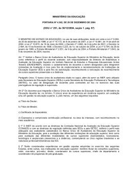 Portaria nº 4.362 de 29/12/2004