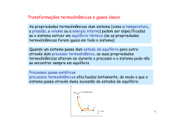 Transformações termodinâmicas e gases ideais