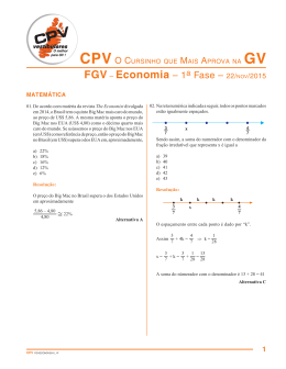 FGV – Economia – 1