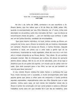 C2/2007: Práticas de Processo Penal