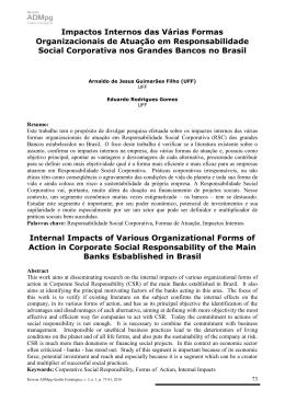 Impactos Internos das Várias Formas Organizacionais de Atuação