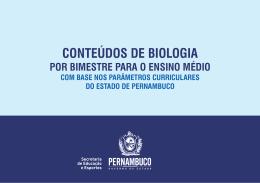 Biologia (Ensino Médio) - Secretaria de Educação de Pernambuco