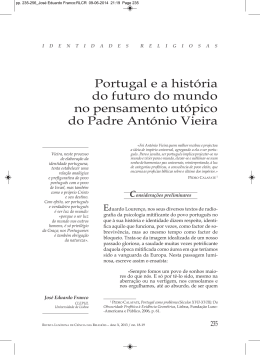 Portugal e a história do futuro do mundo no pensamento utópico do
