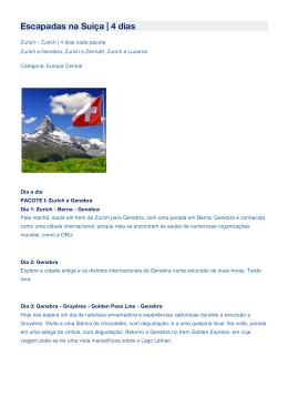 Escapadas na Suiça | 4 dias - Scan