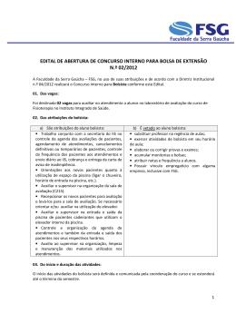 edital - Faculdade da Serra Gaúcha