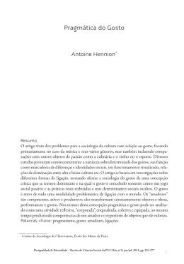 Pragmática do Gosto - Desigualdade & Diversidade - PUC-Rio