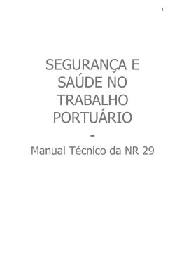 Manual Técnico da NR 29