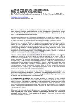 ética no direito e na economia - Universidad Complutense de Madrid