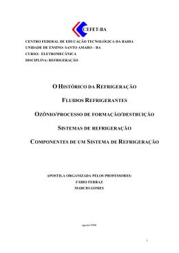 sistemas de refrigeração - Blog do Professor Fábio Ferraz