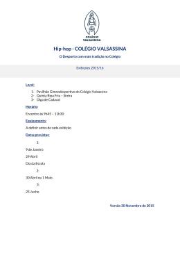 Hip-hop - COLÉGIO VALSASSINA