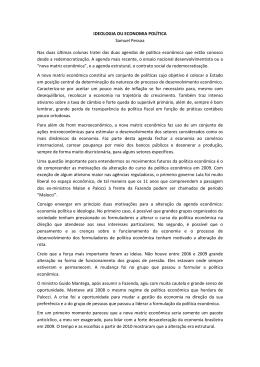 IDEOLOGIA OU ECONOMIA POLÍTICA Samuel Pessoa