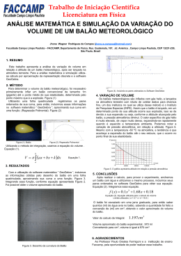 poster IC Jhone Análise matemática balão meteorológico