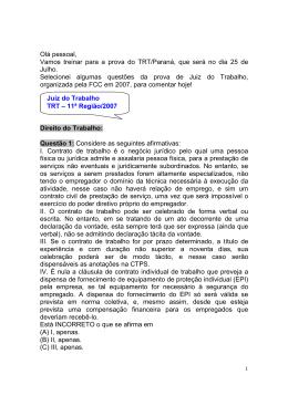 TRT-11ª Região/2007