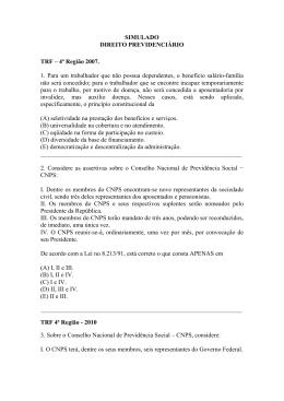 Questões - TRF 4ª R
