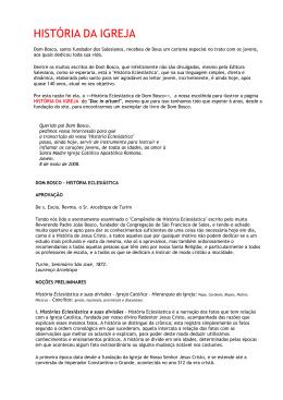 HISTÓRIA DA IGREJA - Portal Conservador