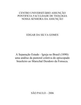A Separação Estado - Igreja no Brasil (1890)