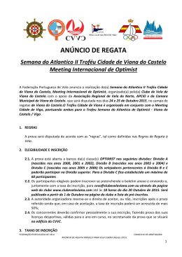Notice Of Race - Clube de Vela de Viana do Castelo