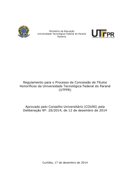 Regulamento Concessão de Títulos (Versão Final - 17 dez