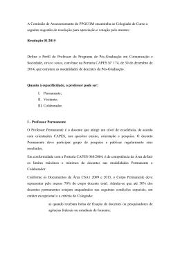 Resolução sobre professores 2015