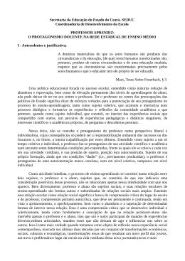 Sobre o Projeto Professor Aprendiz - SEDUC