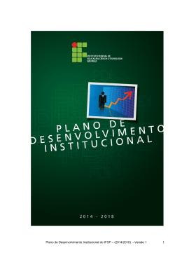 Plano de Desenvolvimento Institucional do IFSP – (2014/2018