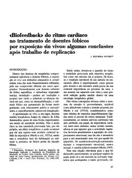 aBiofeedbacb do ritirio cardíaco no tratamento de doentes fóbicos