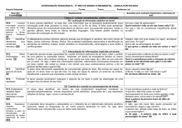 INTERVENÇÃO PEDAGÓGICA - PROALFA / 2011