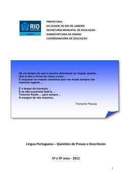 Língua Portuguesa – Questões de Provas e Descritores 5º e 9º anos