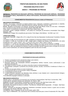 PREFEITURA MUNICIPAL DE SÃO PEDRO