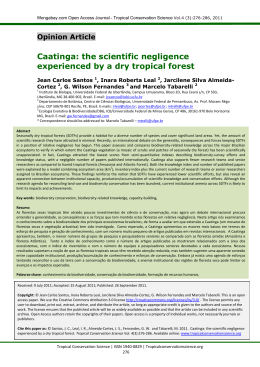 the scientific negligence experienced by a dry tropical forest