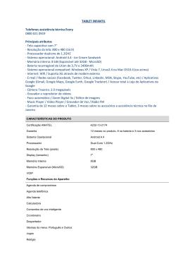 TABLET INFANTIL Telefones assistência técnica Every 0800 021