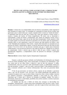 PRÁTICA DE LEITURA COMO ALICERCE PARA A FORMAÇÃO DO